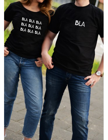 Koszulki dla par komplet Bla Bla Bla - Akomu
