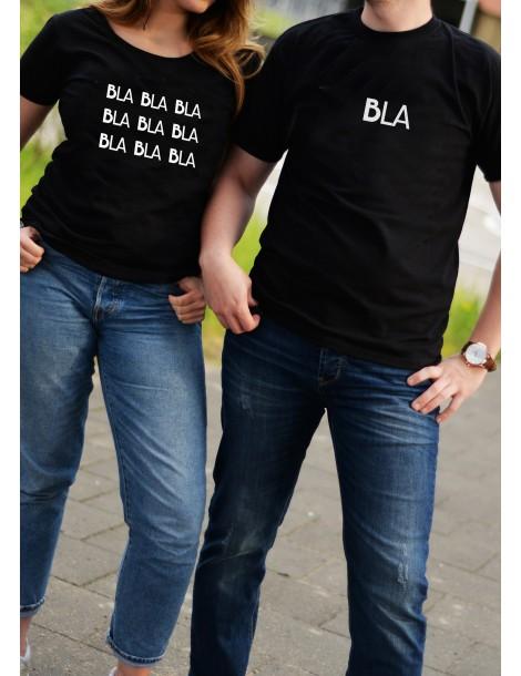 Koszulki dla par Bla i Bla bla bla