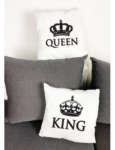 Prezent dla chłopaka, dziewczyny, poduszki dla par King Queen - Akomu.pl
