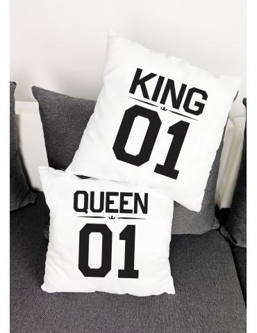 Poduszki dla niej i dla niego, king queen - Akomu.pl