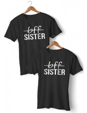 Koszulki Bff sister dla przyjaciółek i sióstr czarne akomu