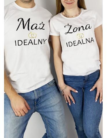 Koszulki z nadrukiem Mąż Żona, prezent ślubny, prezent mąż żona