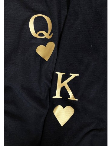 Koszulki dla par KQ złoty nadruk