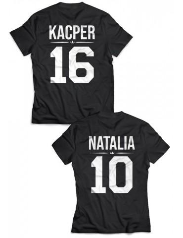 Koszulki dla par /personalizowane/ z własnym nadrukiem czarne