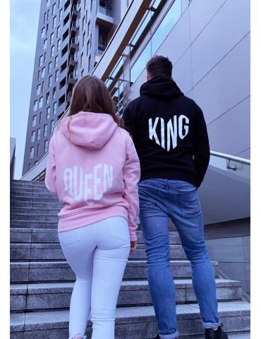 King Queen serca Bluzy dla par