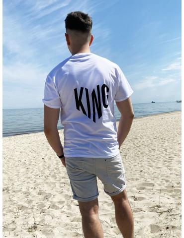 King serce koszulka damska biała