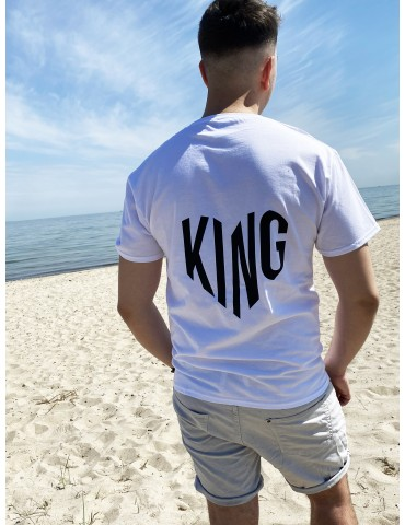 Koszulka damska King serce biała