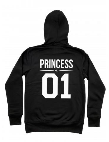 Princess 01 bluza damska z kapturem czarna