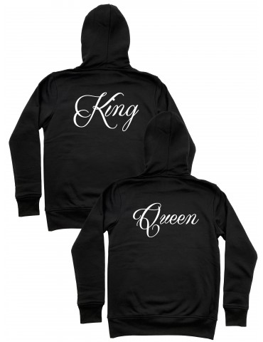 Bluzy King Queen z nadrukiem na plecach czarne
