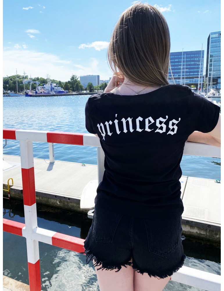 Princess koszulka damska czarna