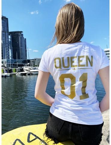 Koszulka damska Queen 01 ze złotym nadrukiem