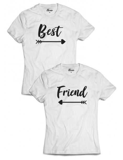 Best Friend Dwie koszulki dla przyjaciółek białe