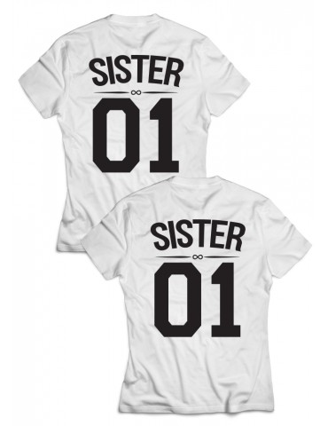 Dwie koszulki dla przyjaciółek Sister 01