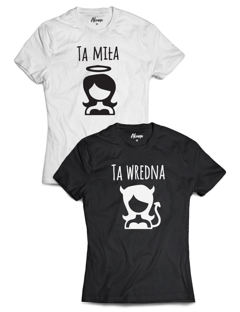 Ta Miła ta Wredna Dwie koszulki dla przyjaciółek