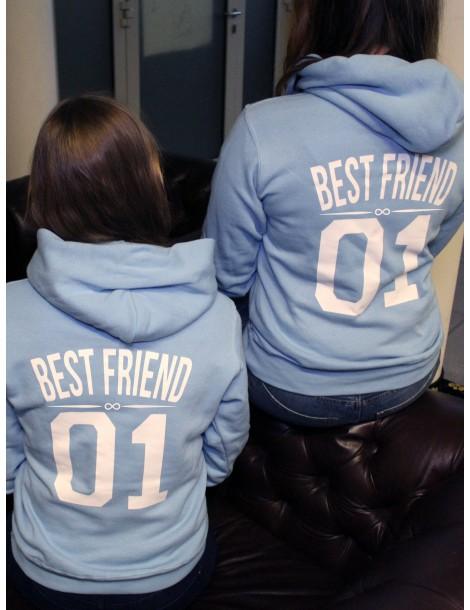 Best Friend 01 bluzy z kapturem dla przyjaciółek