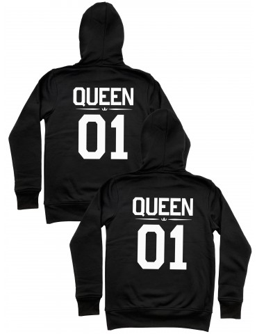 Queen 01 Queen 01 bluzy dla par homoseksualnych z kapturem