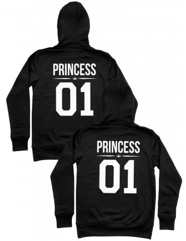 Princess 01 Princess 01 bluzy dla par homoseksualnych z kapturem