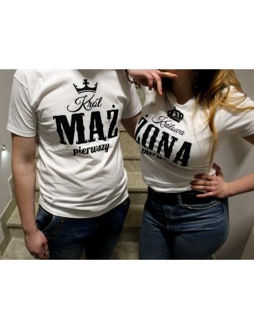Koszulki z nadrukiem MĄŻ I ŻONA - idealne na prezent