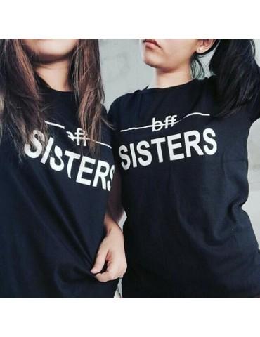 Koszulki Bff Sisters dla przyjaciółek i sióstr czarne akomu