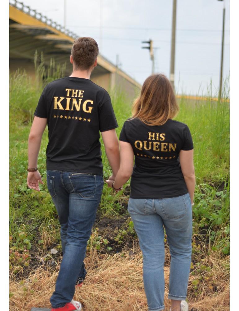 Dwie koszulki dla par The King i His Queen