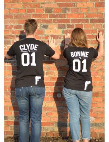 Zestaw koszulek dla zakochanych Clyde Bonnie - Akomu.pl