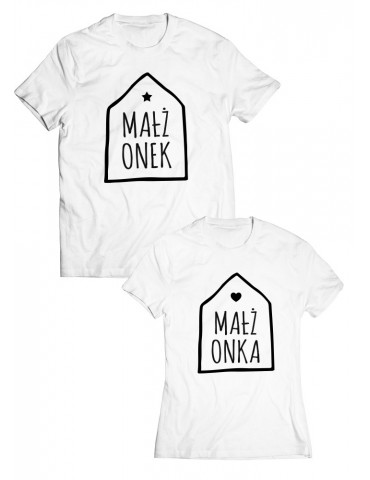 Małżonek i Małżonka koszulki dla niej i dla niego - Akomu.pl