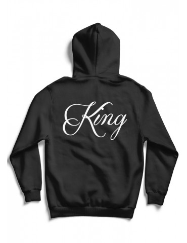 Bluza dla par King, bluza męska king czarna