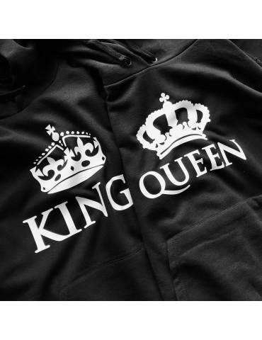King Queen korony bluzy dla par czarne
