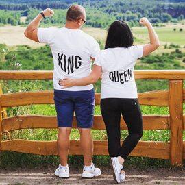 Koszulki King Queen serca 💪🏼⇔ zamów na Akomu.pl ♥️  #koszulki #koszulkidlapar #prezentdlaniego #prezentdlaniej #kingqueen #zakochani #kocham #love #para #razemnajlepiej #odzież  #odziezdamska #kochamcie #miłość #polskadziewczyna #polskichlopak #zakupyonline #akomu #serce #dlakobiet