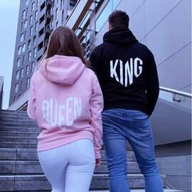 Bluzy King Queen serca ⇔ dostępne na Akomu.pl ♥️ . #bluzydlapar #kingqueen #love #couplegoals #polskamarka #fashion #moda #blogger #hoodie #streetwear #miłość #dlakobiet #polskadziewczyna #polskichlopak #akomu